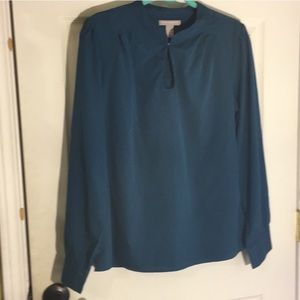 🍌Banana Republic flawless long sleeve keyhole top